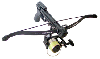 ... she mounted a reel on a Barnett Trident II Crossbow